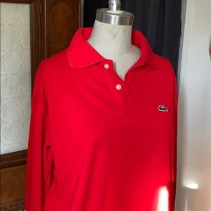 Lacoste red long sleeve